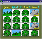 Dinosaur Match Game